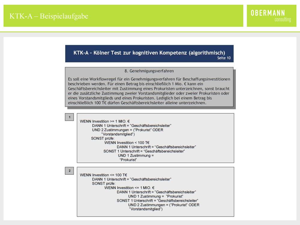 Kognitiver Test Online