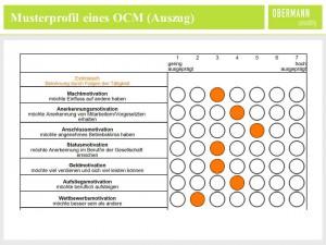 Musterprofil eines OCM (Auszug)