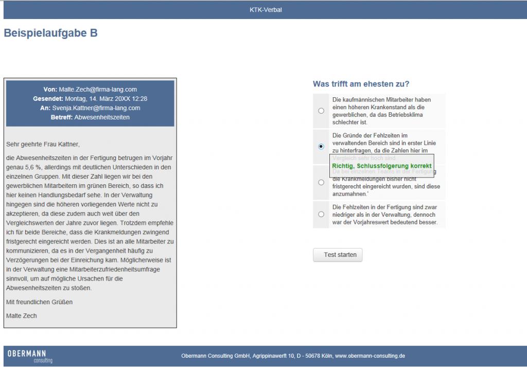 Online-Testverfahren - Beispielaufgabe KTK-V