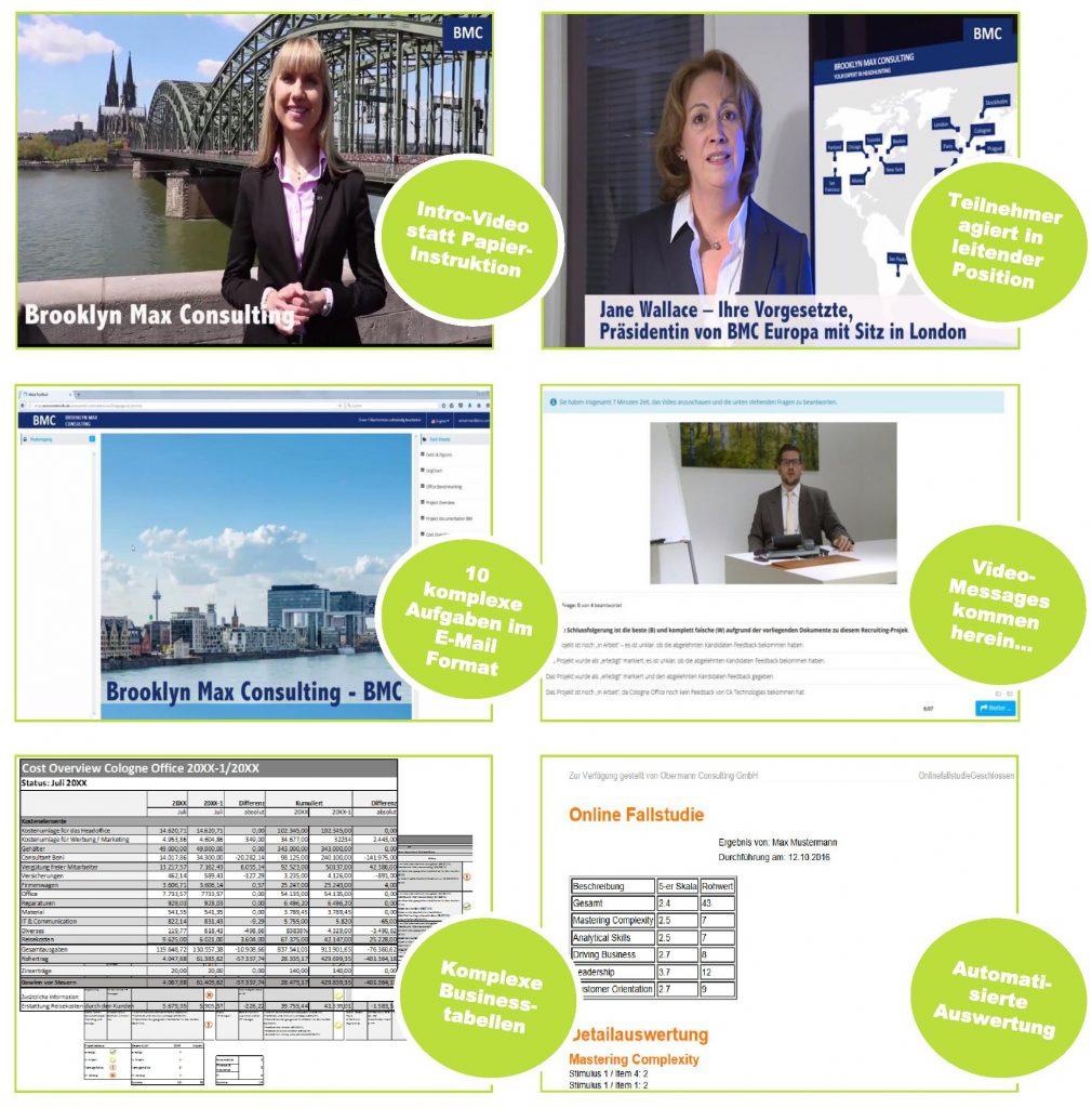 Online Postkorb / Inhalte des Online Assessments